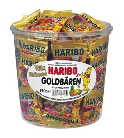 Haribo Ourson d'Or 10 g tubo - 100 pièces-1 kg