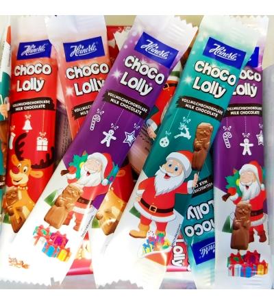 Kerstman Chocolade lolly - 60 stuks