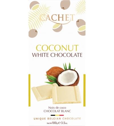 CHOCOLAT BELGE Blanc noix de coco- 100g