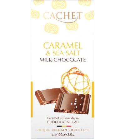 CHOCOLAT BELGE Caramel et sel de mer- 100g